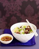 Grilled Meatballs with Rice Vermicelli
