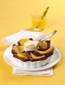 Ananas Gratin mit Vanilleeis