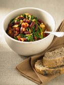 Kidney Bean and Spinach Curry