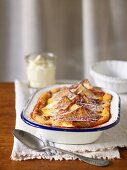 Rhubarb Bread & Butter Pudding