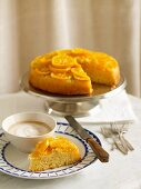 Mandarin & Almond Upside-Down Cake