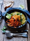 Yellow split pea and carrot dahl