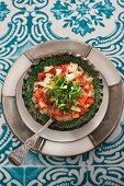 Tomatensalat mit weißem Paprika (Marokko)