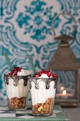 Joghurtdessert mit Rosenaroma (Marokko)
