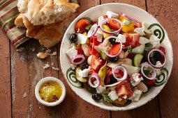 Country salad with sheep's cheese (Greece)