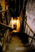 Stairs going down to an old port wine cellar at the Niepoort winery, Portugal