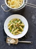 Pasta with a broccoli and anchovy sauce