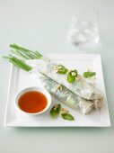 Rice Paper Rolls with Aromatic Salad