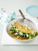 Spinach, Rocket & Goat Cheese Omlelette