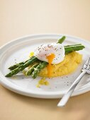 Poached Eggs with Polenta