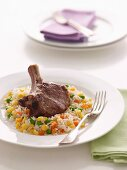 Veal Cutlets with Vegetable Pilaf (Diabetes)