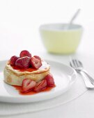 Low-Fat Strawberry Cheesecakes