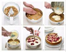 Baking Cheesecake with Berry Jam