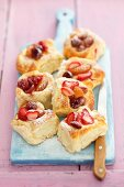 Yeast dough pastries with berries