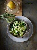 Broccoli spaghetti with lemon sauce