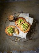 Chocolate chip cookies with courgettes spirals