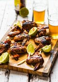 Sticky wings with honey and soy sauce
