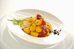 Gnocchis in tomato sauce
