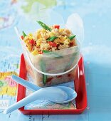 Fried rice with egg and Thai vegetables
