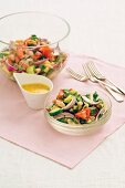 Vegetable salad with mustard dressing