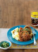 Osso bucco with gremolata and mashed potatoes