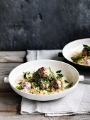 lamb meatballs with burghul, yoghurt and mint