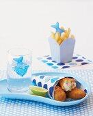 Fischstäbchen mit Parmesan