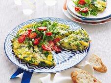 Asparagus and cheese frittata