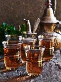 Orange tea with mint