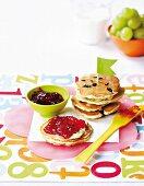 Pancakes with barley and raisins