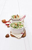 Asparagus and smoked salmon risotto