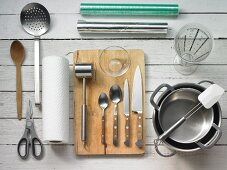 Kitchen utensils for making fish roulade