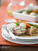 French Roast Lamb in White Wine