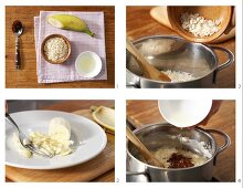 How to prepare creamed rice with banana and cocoa