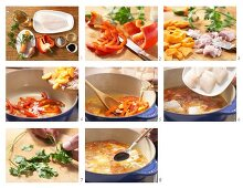 How to prepare fish soup with pepper