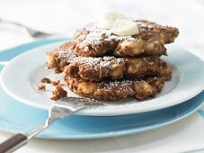 Chocolate & banana fritters