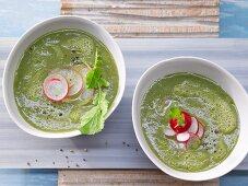 Radish and potato soup
