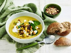 Curried Cauliflower and Chickpea Soup