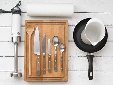 Kitchen utensils for preparing canapés