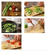 How to prepare pan-fried asparagus