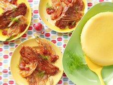 Escalopes with tomato and fennel
