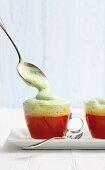 Cherry tomato cappuccino with basil foam