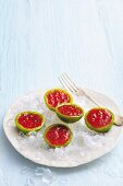 Cold tomato melons