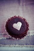 A heart muffin for Valentine's Day