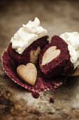 A red velvet cupcake for Valentine's Day