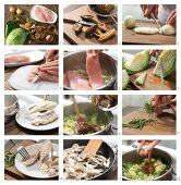 How to prepare pointed cabbage with morel and chicken breast strips