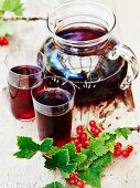 Homemade redcurrant syrup