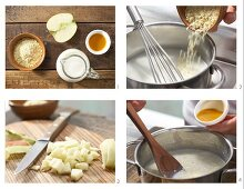How to prepare apple & sea buckthorn millet seed porridge