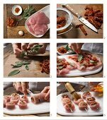 How to prepare turkey roulade kebabs with sage and dried tomatoes