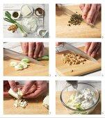 How to prepare sheep's cheese dip